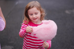 Everyone was delighted with the cotton candy